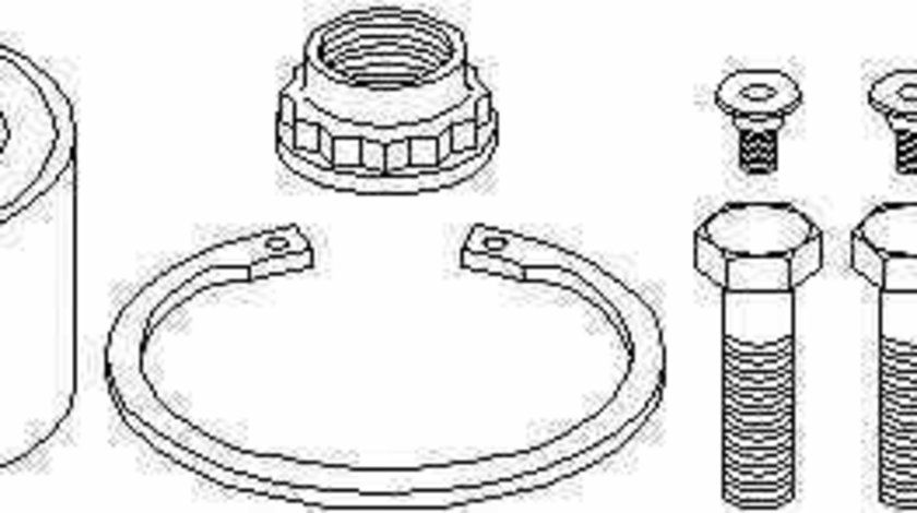 Set rulment roata MERCEDES-BENZ E-CLASS W124 TOPRAN 401 372