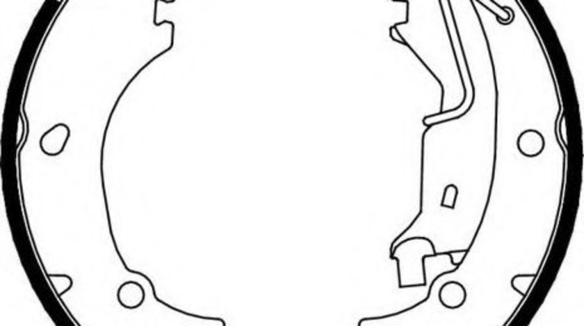 Set saboti frana FIAT GRANDE PUNTO (199) (2005 - 2016) FERODO FSB656 piesa NOUA