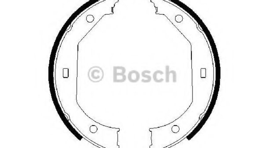 Set saboti frana, frana de mana BMW Seria 3 (E90) (2005 - 2011) BOSCH 0 986 487 607 piesa NOUA