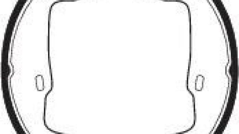 Set saboti frana, frana de mana OPEL ASTRA F Hatchback (53, 54, 58, 59) (1991 - 1998) FERODO FSB227 piesa NOUA