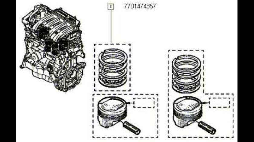 Set Segmenti Dacia Logan Sandero 1.4 1.6