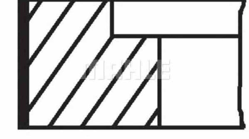 Set segmenti piston AUDI 90 81 85 B2 MAHLE ORIGINAL 034 75 V0