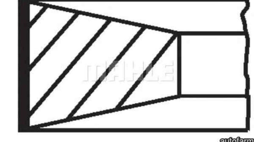 Set segmenti piston JAGUAR XF J05 CC9 MAHLE ORIGINAL 353 RS 10101 0N0