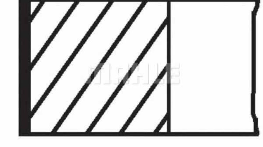 Set segmenti piston MERCEDES-BENZ E-CLASS W211 MAHLE ORIGINAL 004 06 N0