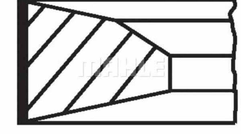 Set segmenti piston MERCEDES-BENZ SPRINTER 46-t caroserie 906 MAHLE ORIGINAL 005 23 N0
