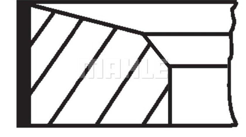 Set segmenti piston MITSUBISHI PAJERO SPORT II KH KG Producator MAHLE ORIGINAL 676 13 N0