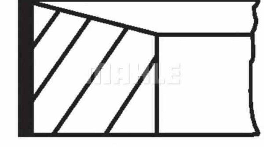 Set segmenti piston RENAULT AVANTIME DE0 MAHLE ORIGINAL 022 07 N0