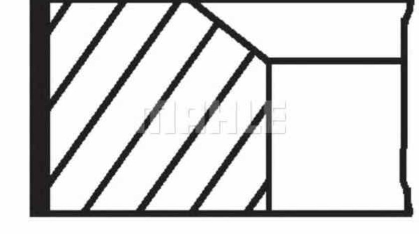 Set segmenti piston RENAULT MODUS / GRAND MODUS F/JP0 MAHLE ORIGINAL 022 01 N2