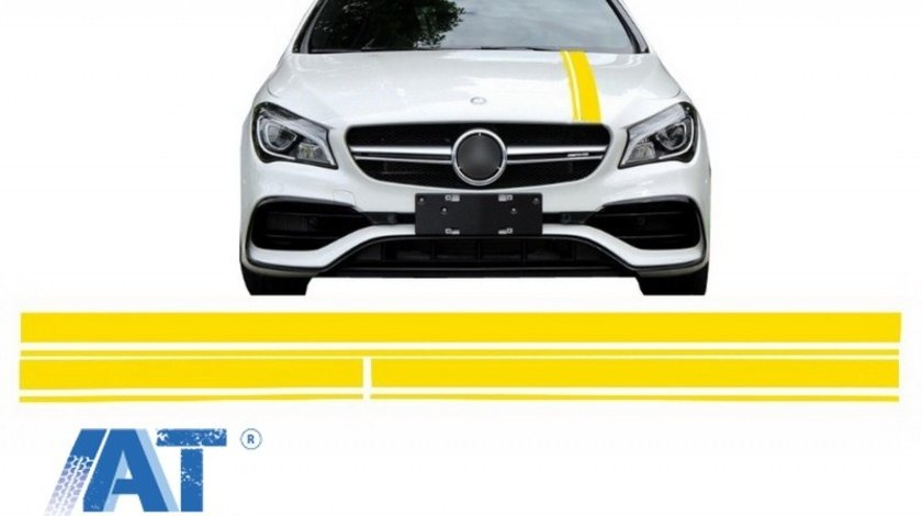 Set Stickere Galben Mat compatibil cu MERCEDES Benz CLA W117 C117 X117 (2013-2016) A Class W176 (2012-2018) 45 A-Design Edition 1