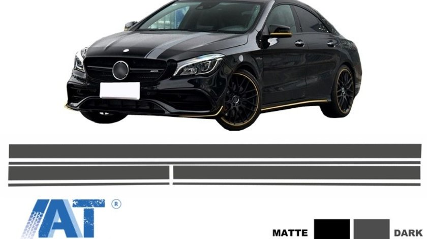 Set Stickere Gri Inchis compatibil cu MERCEDES Benz CLA W117 C117 X117 (2013-2016) A Class W176 (2012+) A45 A-Design