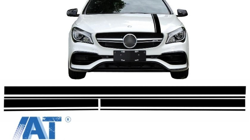Set Stickere Negru Mat compatibil cu MERCEDES Benz CLA W117 C117 X117 (2013-2016) A Class W176 (2012-2018) 45 A-Design Edition 1