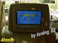 Set Tetiere Bej Cu Dvd Husa Usb Sd Divx Jocuri Modulator Fm Joystick
