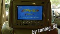 Set Tetiere Bej Cu Dvd Husa Usb Sd Divx Jocuri Mod...
