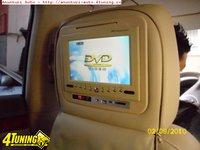 SET Tetiere Crem cu HUSA Dvd USB SD Divx JOCURI MODULATOR FM