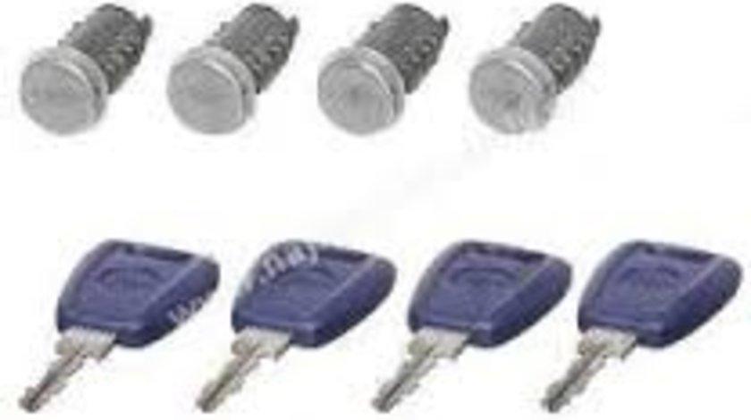 Set yale inchidere Fiat Doblo (119/223) 2001-2010, cu 4 butuci blocare usa, fata/spate, stanga/dreapta,