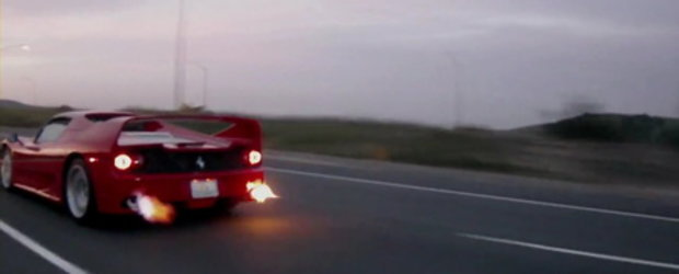 She's on Fire: Ferrari F50 cu evacuare Tubi