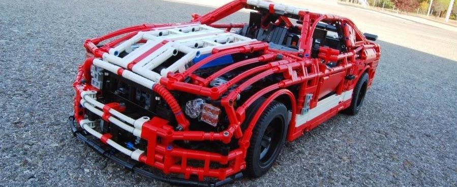 Shelby GT500 facut din piese Lego