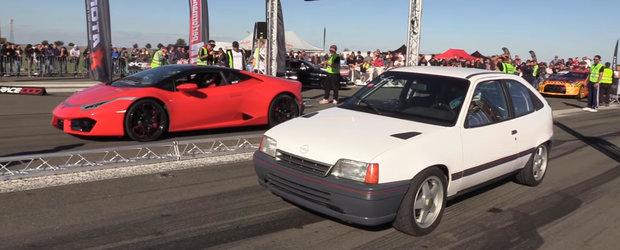 Si-a adus supercarul de 200.000 de euro la curse si era cat pe ce sa ia bataie de la...un OPEL KADETT