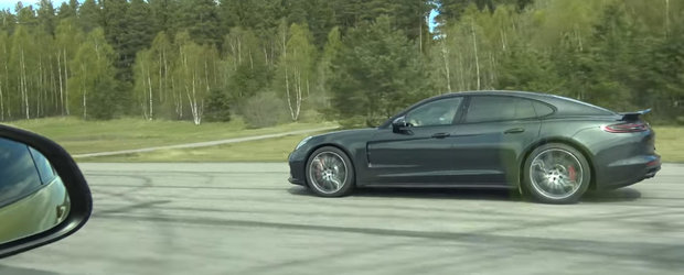 Si-a aliniat noul Panamera Turbo cu incredere la start, dar a pierdut in fata unui BMW M4. Uite momentul