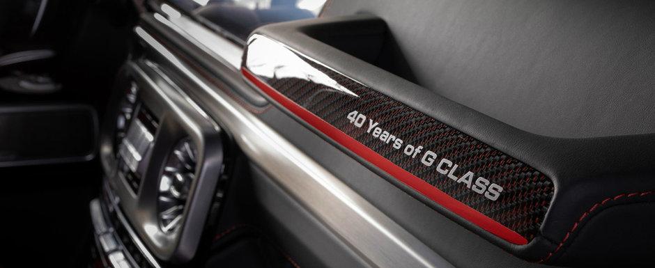 Si-a comandat un G63 AMG nou-nout dar interiorul stock nu l-a convins. Acum are piele bicolora si fibra de carbon rosie