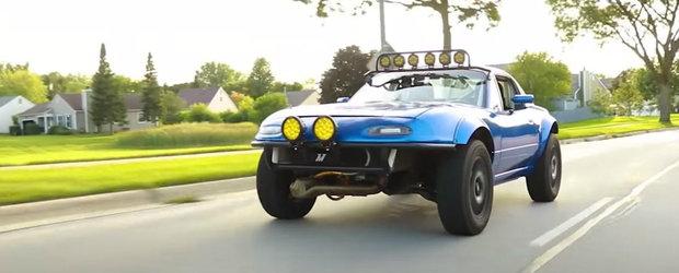 Si-a construit o Mazda MX-5 unica in lume. Nu este loc unde sa nu poata merge cu ea