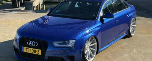 Si-a construit propriul Audi RS4 B8 sedan, iar acum vrea sa-l vanda pentru suma asta de bani