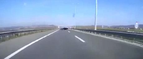 Si-a facut praf BMW-ul cu NOS intr-o balustrada de pe autostrada. Participa la o cursa ilegala cu un VW de 1300 CP