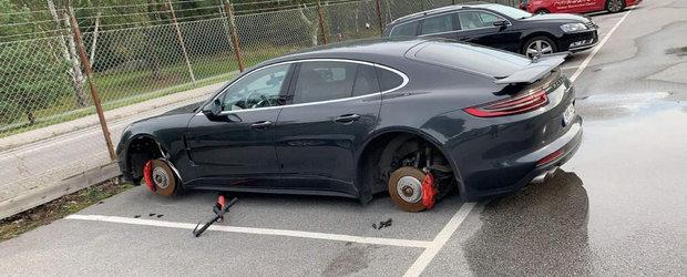 Si-a lasat masina intr-o parcare privata, imprejmuita cu gard si sarma, insa a doua zi a gasit-o pe butuci