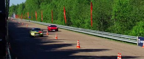 Si-a luat Ferrari pentru a-si impresiona prietenii, insa a pierdut rusinos in fata unui BMW