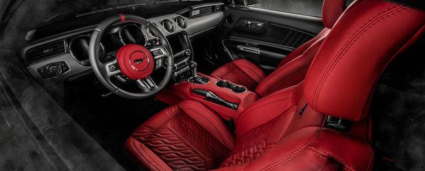Si-a luat un Mustang de ultima generatie dar avea cam mult plastic la interior. Acum arata asa
