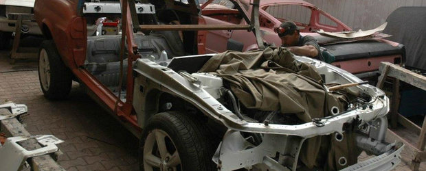 Si-a taiat masina in doua pentru a construi cel mai frumos Mustang din Europa