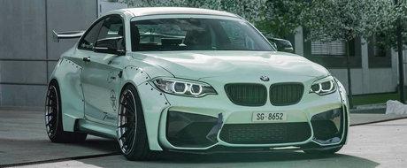 Si-a transformat complet BMW-ul M2. A ales un kit widebody si o culoare care sa-ti fure ochii