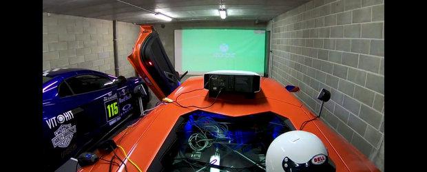 Si-a transformat masina de 700 CP in maneta pentru Xbox. Acum joaca toate simulatoarele auto dintr-un Lambo Aventador!