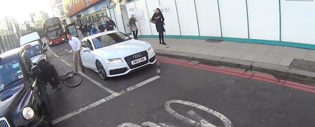 Si englezii au cocalarii lor: un sofer de Audi A7 il cafteste pe un biciclist