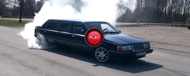 Si presedintii fac burnout: Volvo 960 limuzina