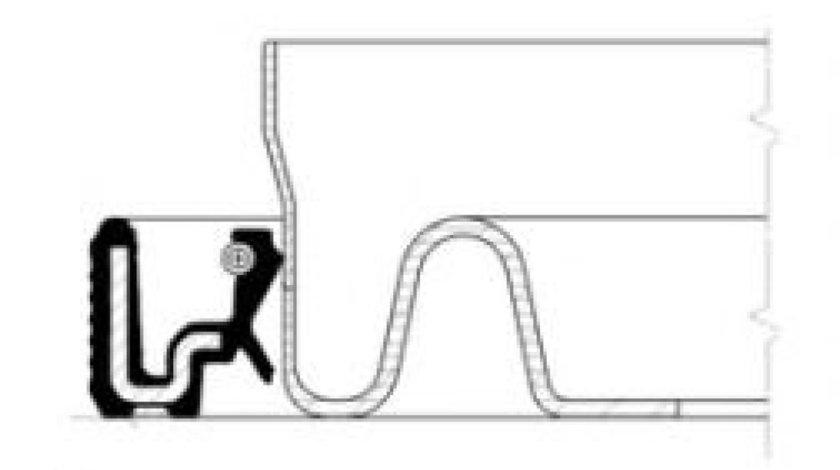 Simering, arbore cotit NISSAN MICRA III (K12) (2003 - 2010) CORTECO 20034106B produs NOU