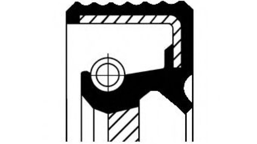 Simering, diferential CITROEN C4 Cupe (LA) (2004 - 2011) CORTECO 20026878B - produs NOU