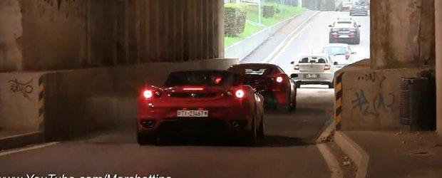 Simfonie Ferrari 458 Italia intr-un tunel: muzica pentru pasionati!