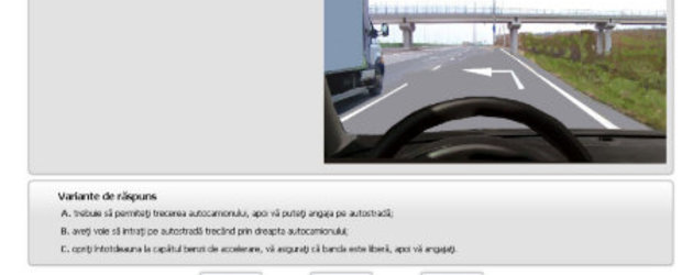 Simulare examen auto online - Pas cu pas