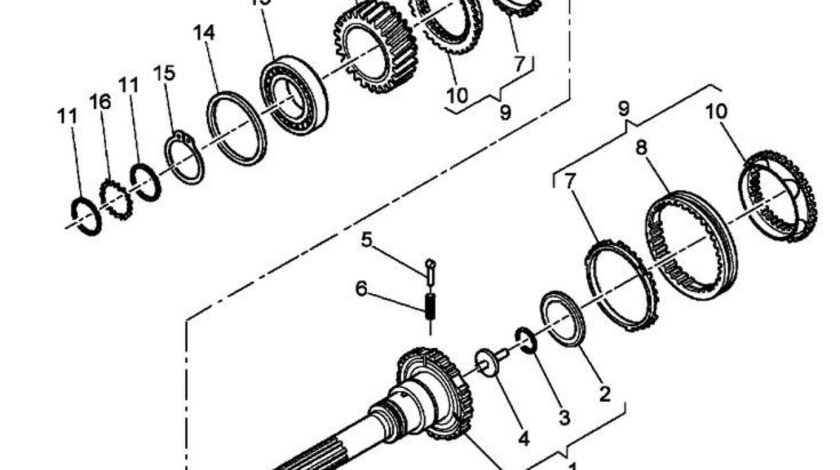 Sincron ax principal ambreiaj cutie viteza ZF Renault Kerax 8x4 (poz.9) CEI 1297298955