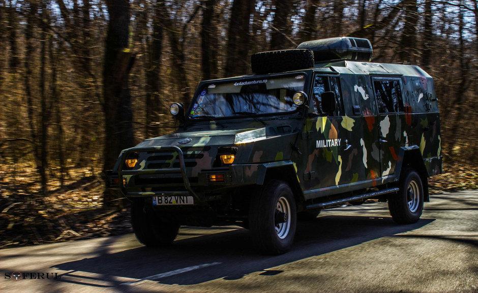 Singurul ARO Dragon blindat din Romania este masina ideala pentru invazia zombie