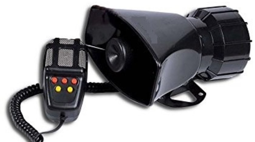Sirena 5 melodii cu microfon 12V 60W COD: ART60W-5AS VistaCar