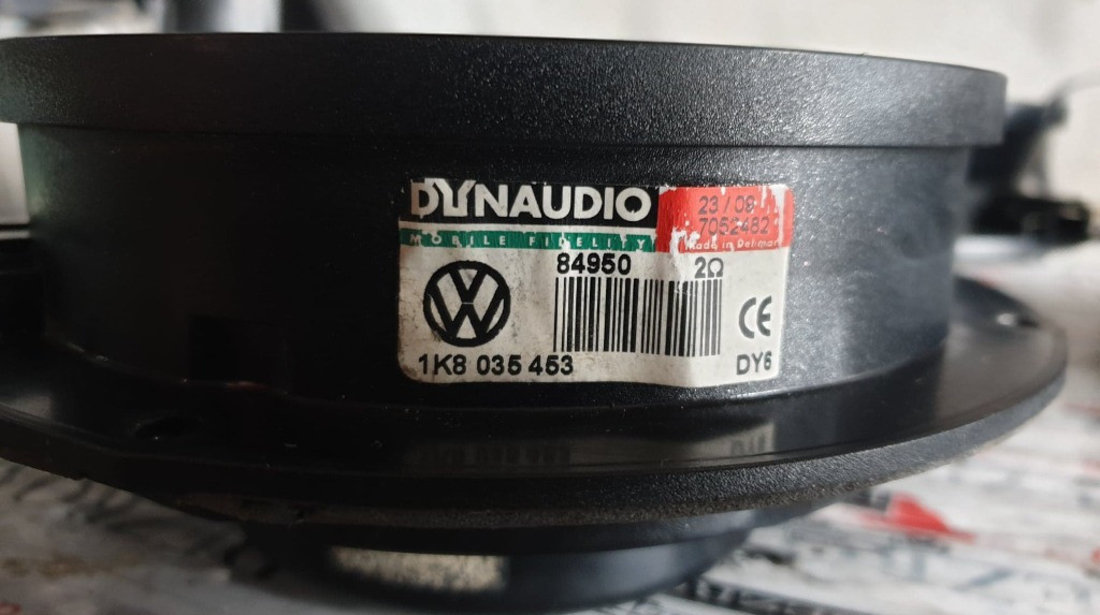 Sistem audio original DYNAUDIO VW Scirocco III coduri : 1K8035453 / 1K8035453 / 5K0035456