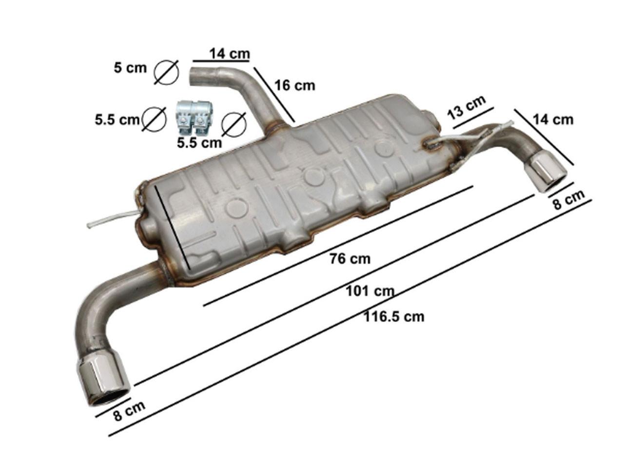 Sistem de evacuare VW Golf 5 (2003-2007) Golf 6 (2008-2013) GTI Design