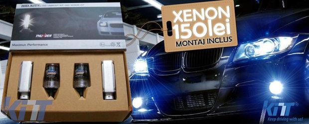 Sistem de iluminare xenon cu montaj si garantie incluse la 150 de lei!