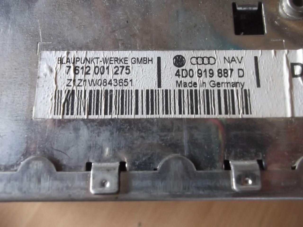 sistem navigatie audi a4  cod 4DO919887D  sau 7612001275