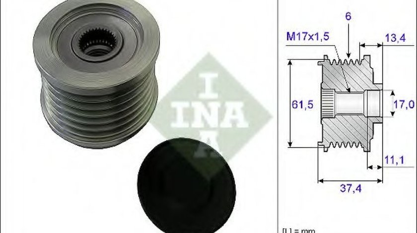 Sistem roata libera, generator ALFA ROMEO 156 (932) (1997 - 2005) INA 535 0023 10 piesa NOUA