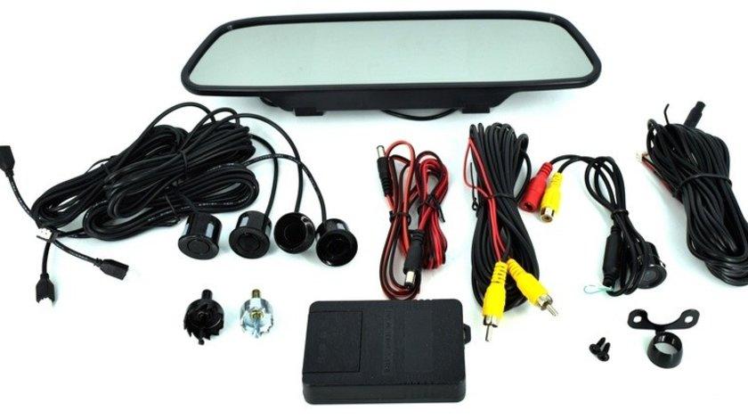Sistem senzori parcare si camera marsarier cu display tip oglinda de 5 COD: 5004 AutoCars