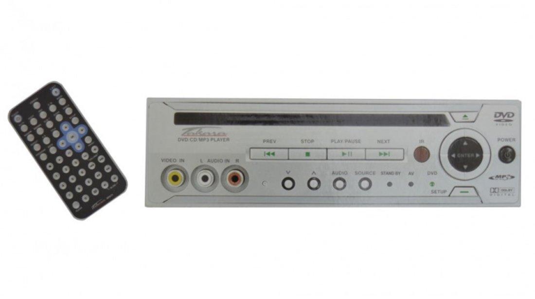 "Sistem video CD/DVD player Takara, Video player mobil cu monitor de 5 si cu suport, compatibil cu format CD, DVD, MP3, AUDIO CD, CD-R, cu telecomanda si husa"" Kft Auto"