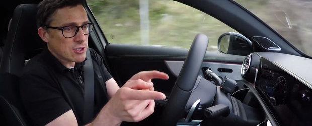 Sistemul masinii a luat-o razna chiar in fata camerelor de filmat. Ce s-a intamplat in testul cu cea mai noua compacta de la Mercedes